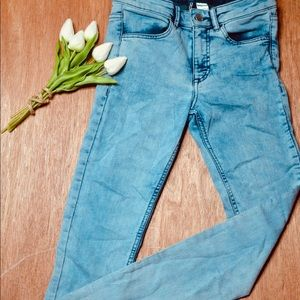 Divided Stone Washed Denim Skinny Jeans